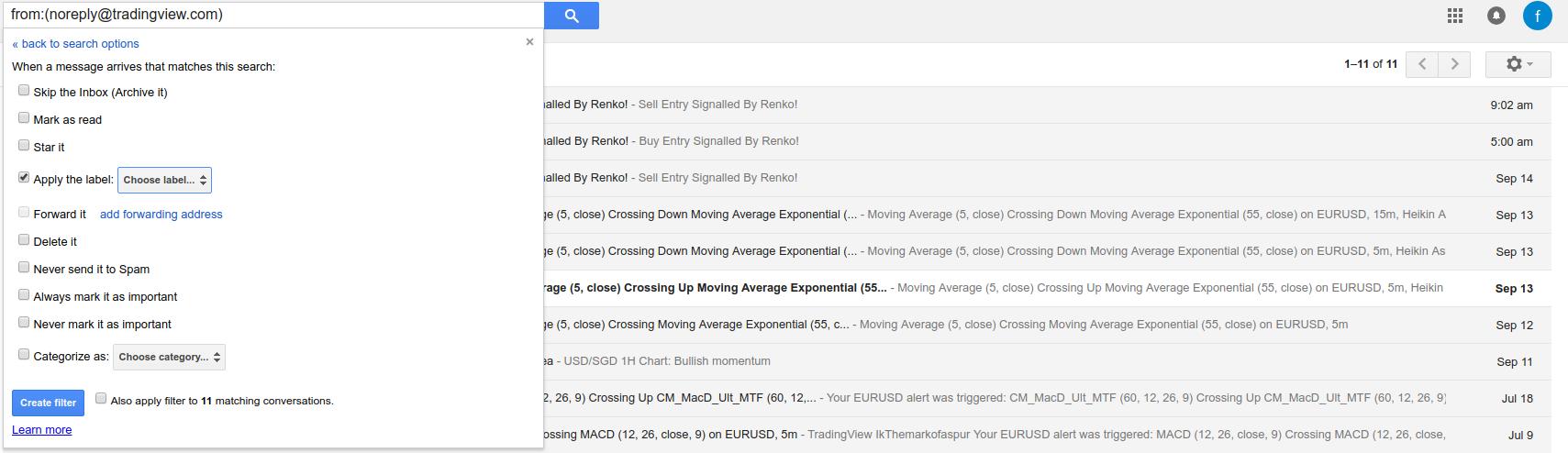 Create a label in gmail